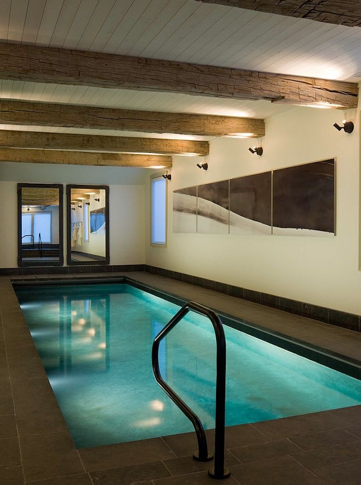 Rustic indoor pool Dive Into These 12
