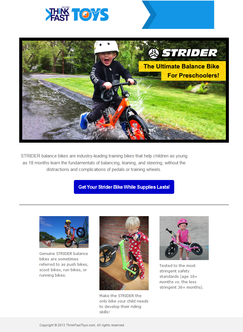 With The Strider Prebike There Are No Tricycle Tip Overs Or