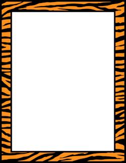 tiger print border borders clip art fonts more page borders rh pinterest com