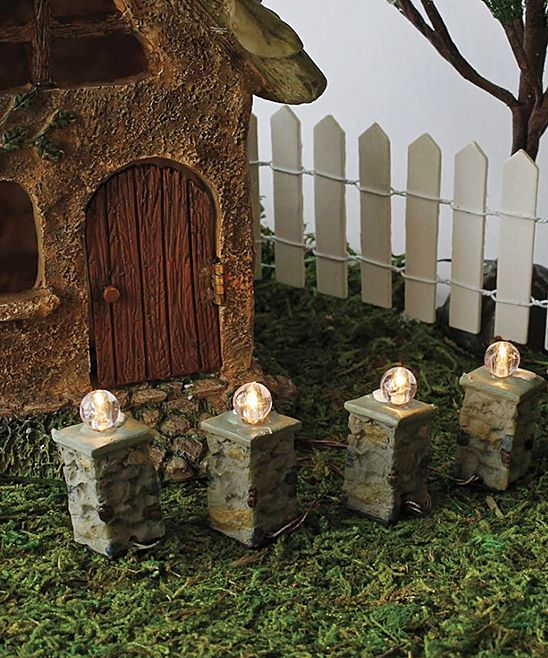 Pillar Lights For Your Fairy Garden   Set Of 4 By Marshall Home And Garden  1.5