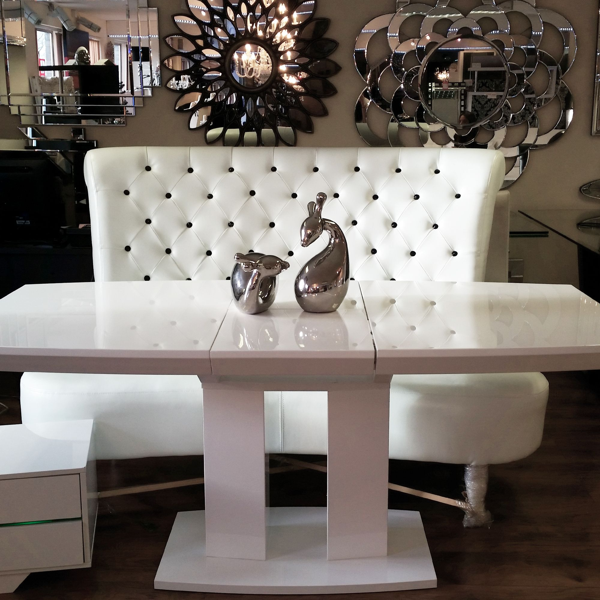 Modern White Sofa Table Buying Online Contemporary Chesterfield With