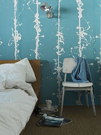 true blue wallpaper for the home bedroom turquoise home blue rh pinterest com