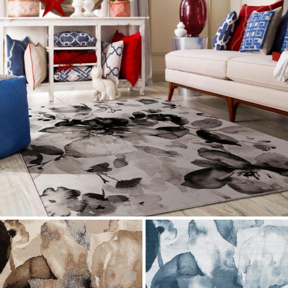 rug for living room size%0A Meticulously Woven Kemi Rug    u      x    u        Brown   Polypropylene  Floral    Floral PatternsLiving Room