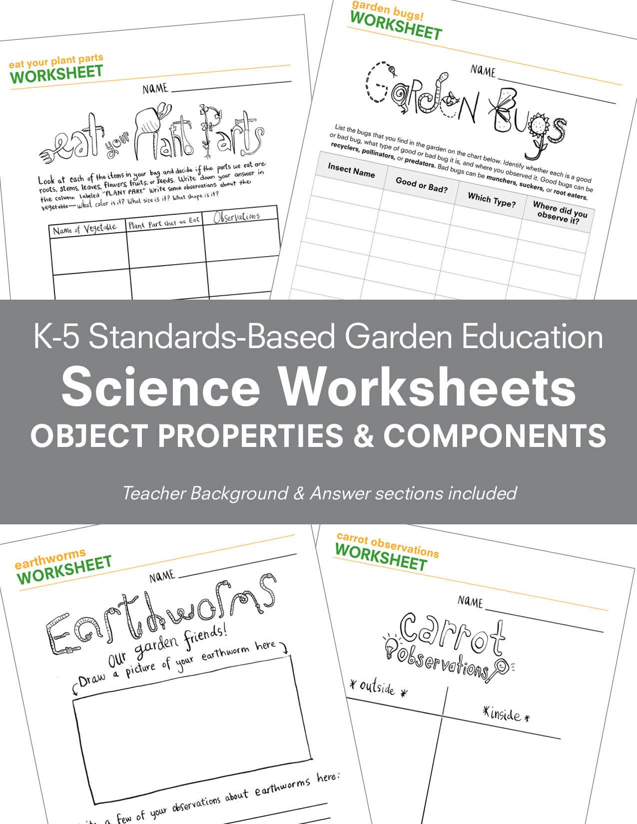 Pin by Schoolyard Roots on K-5 Science Standards-Based Worksheets ...