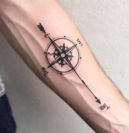 Tattoo Compass Coordinates 57 Ideas #tattoo