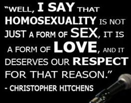 Hitchens quotes on homosexuality