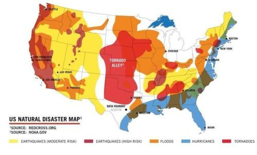 Us Natural Disaster Map Maps United States Pinterest Map
