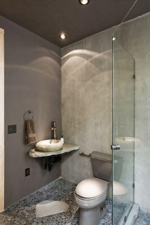 Badezimmer-Designs-im-asiatischen-Stil-stein-beton-grau-waschbecken ...