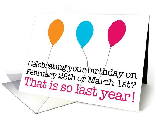 Proud Leapling Leap Year Birthday Card Leap year birthday