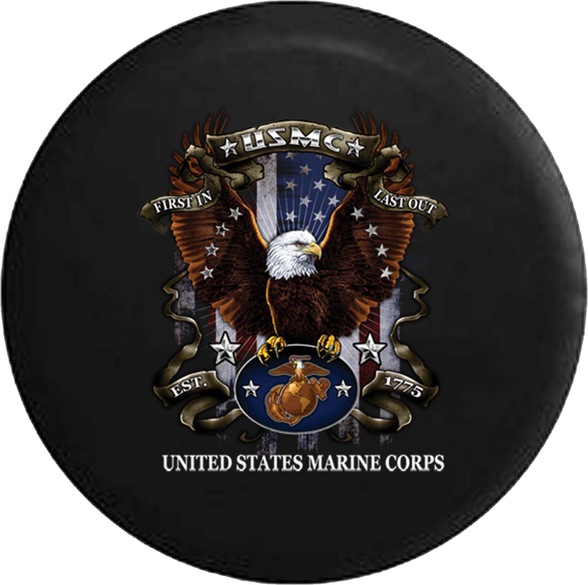 Tire Cover Pro Usmc United States Marine Corps Military American