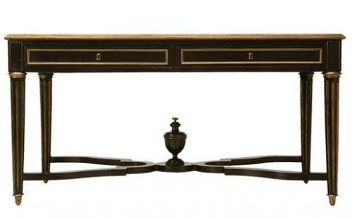1870 french napoleon iii ebonized writing table w bronze trim rh pinterest com