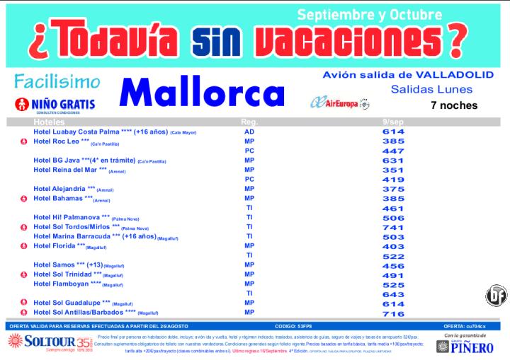 MALLROCA, ¿Todavia sin vacaciones? salidas desde Valladolid - http://zocotours.com/mallroca-todavia-sin-vacaciones-salidas-desde-valladolid/