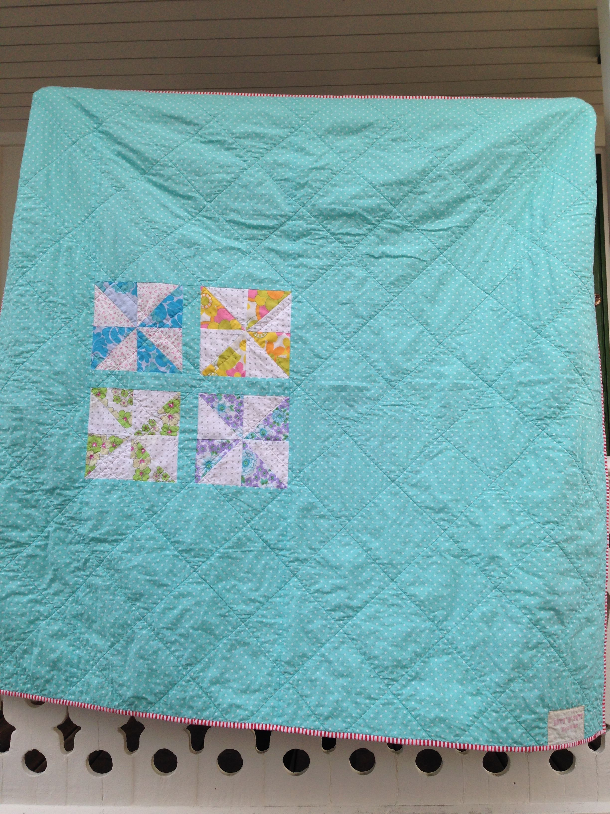 The back of my Pinwheel-quilt