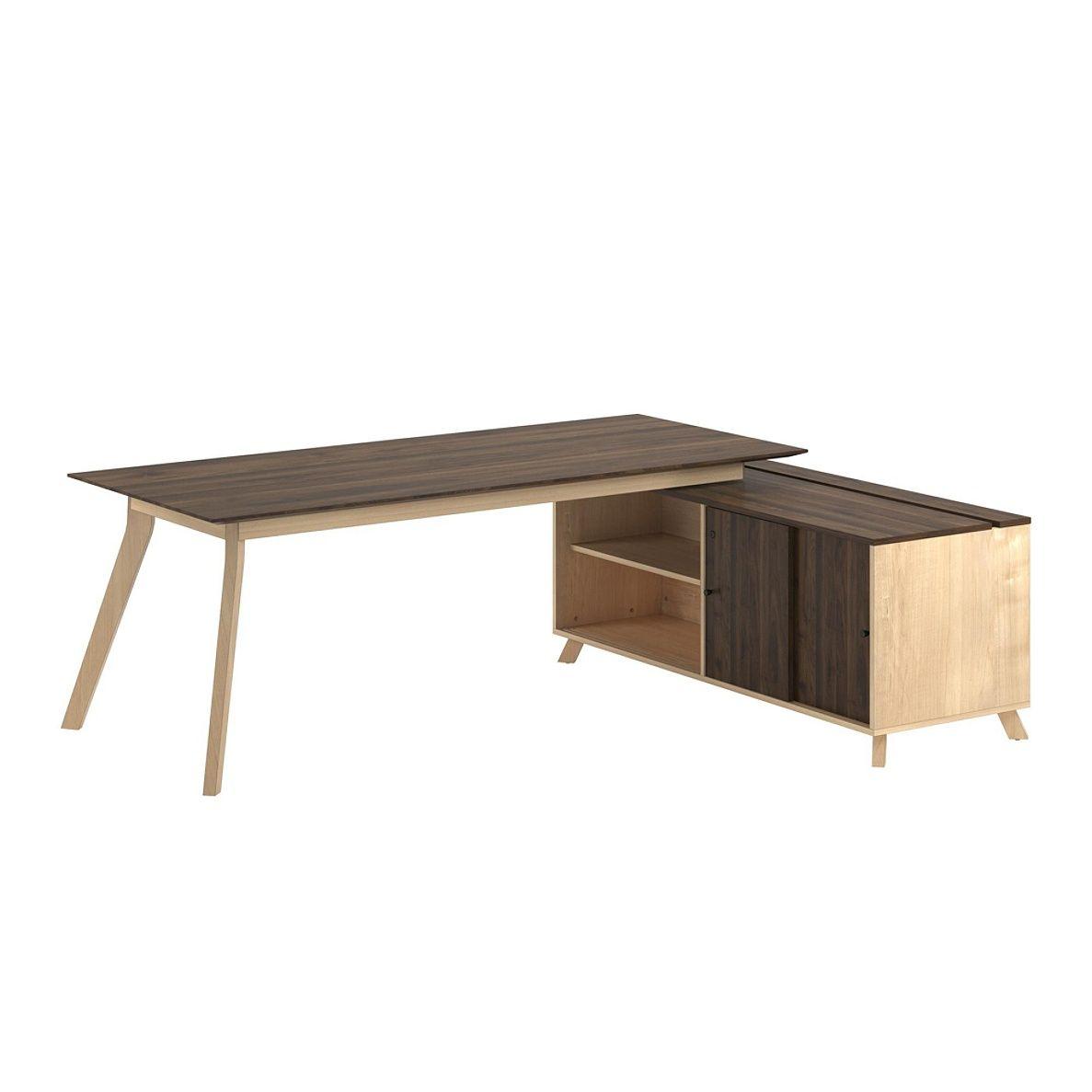 ameriwood home ax1 executive desk with side return walnut item rh pinterest com