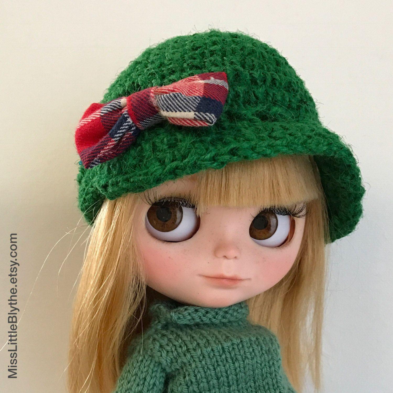 GREEN HAT for Blythe doll, sombrero para muñeca, cappello per bambola di MissLittleBlythe su Etsy