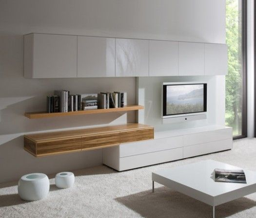 Modern wall units for living room tv stand glass plasma tv for Modern living room shelving units