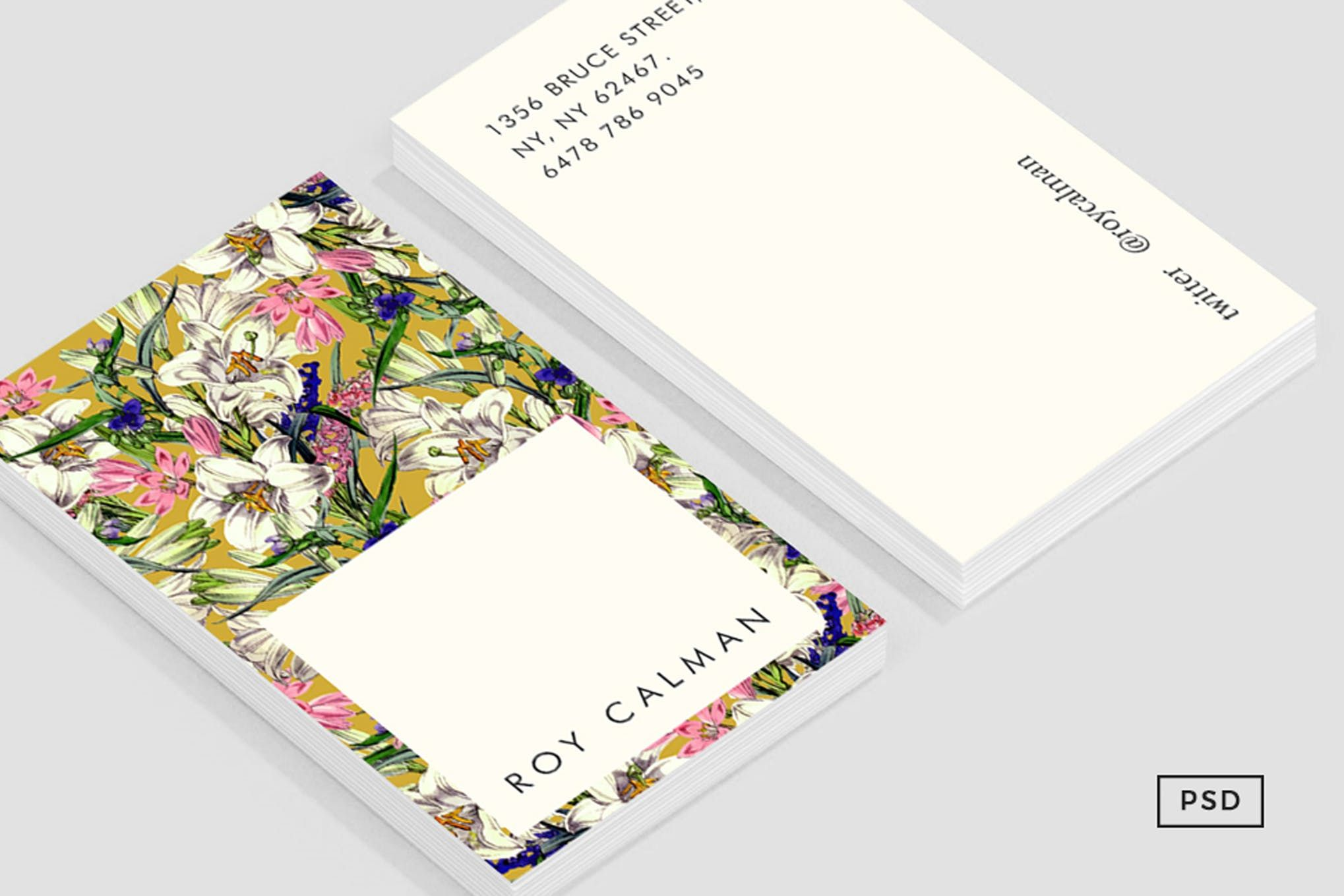 Earthy Floral Business Card Template Floral Business Cards Business Card Template Card Template
