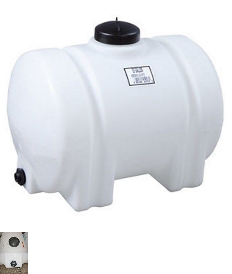 Water Pumps And Pressure Tanks 118851 65 Gallon Horizontal Poly Fresh Water Storage Tank Plastic Container B Water Storage Tanks Water Storage Storage Tank