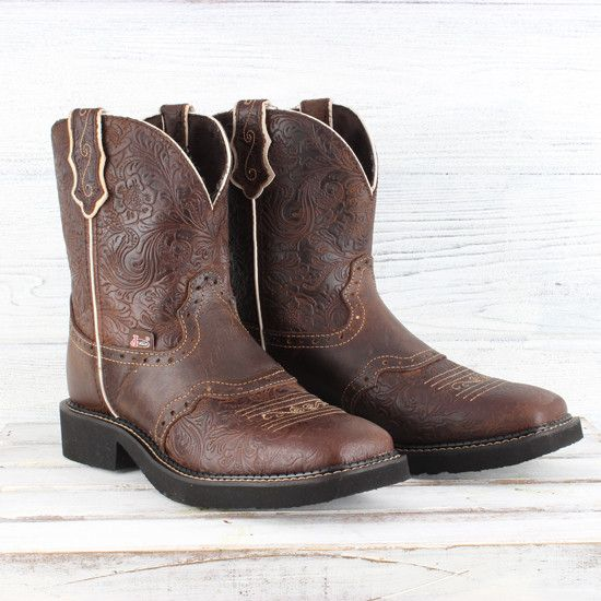 284a85a29d7 Justin Embossed Brown Gypsy Boot   Products I Love   Gypsy boots ...