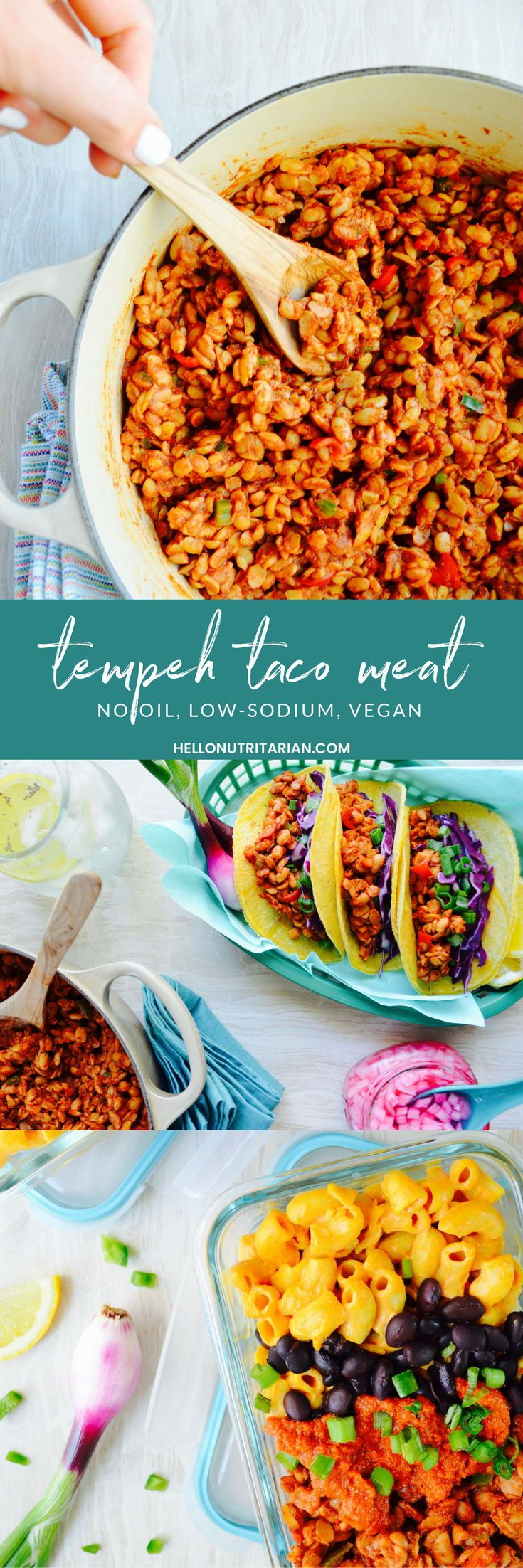 No Oil Tempeh Taco Meat