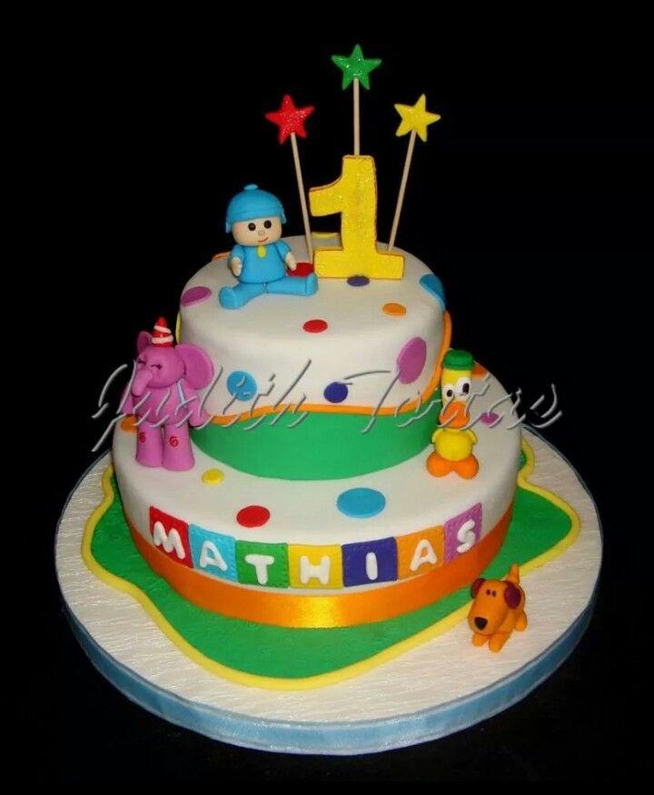 Torta Decorado Y Modelado Con Fondant  U0026quot Pocoyo Y Sus Amigos U0026quot
