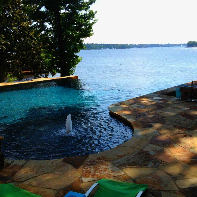 Infinity Pool In Longview Texas Landscapes Longview