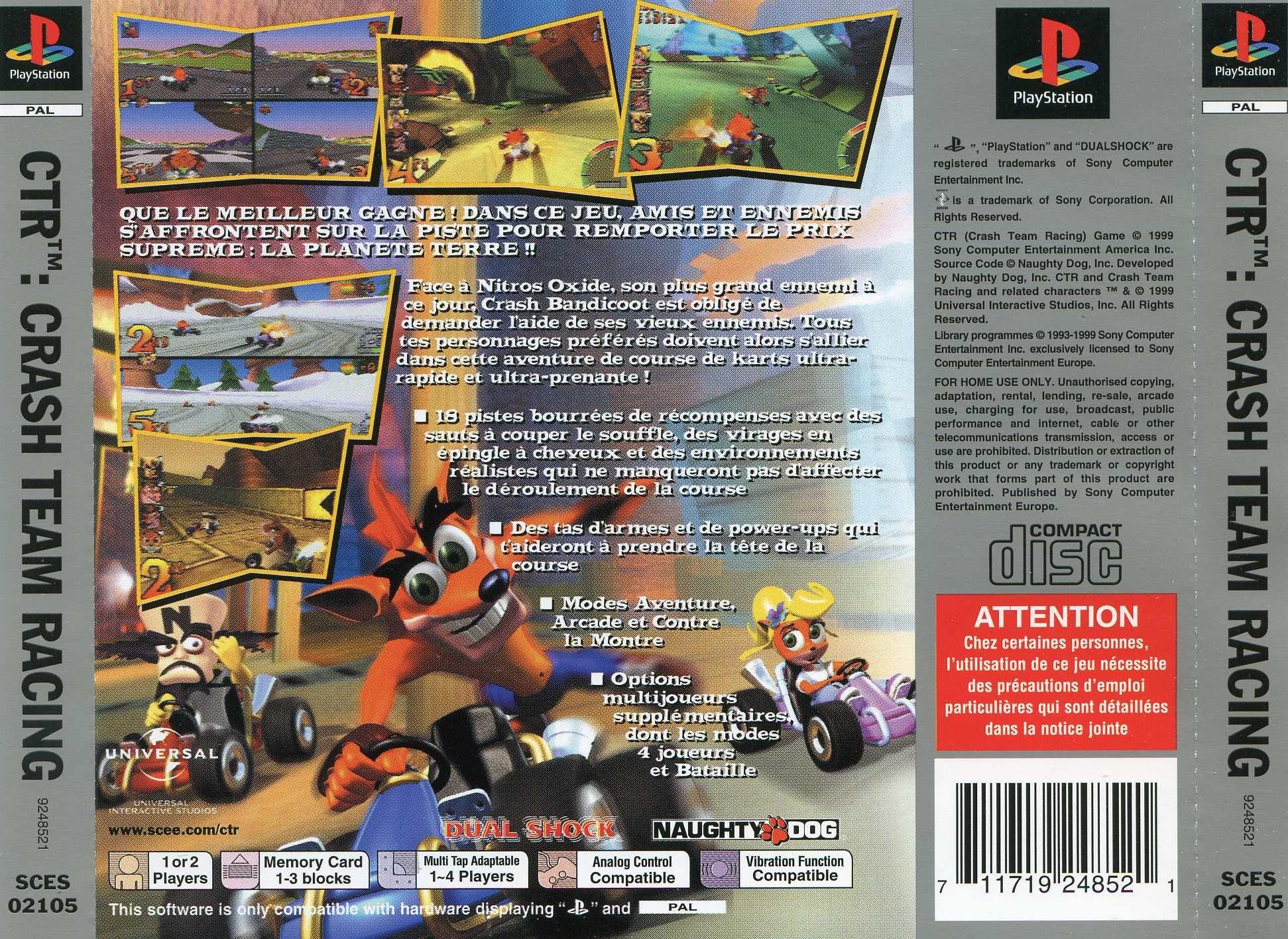 Crash Team Racing Psx Front Cover - Imagez co