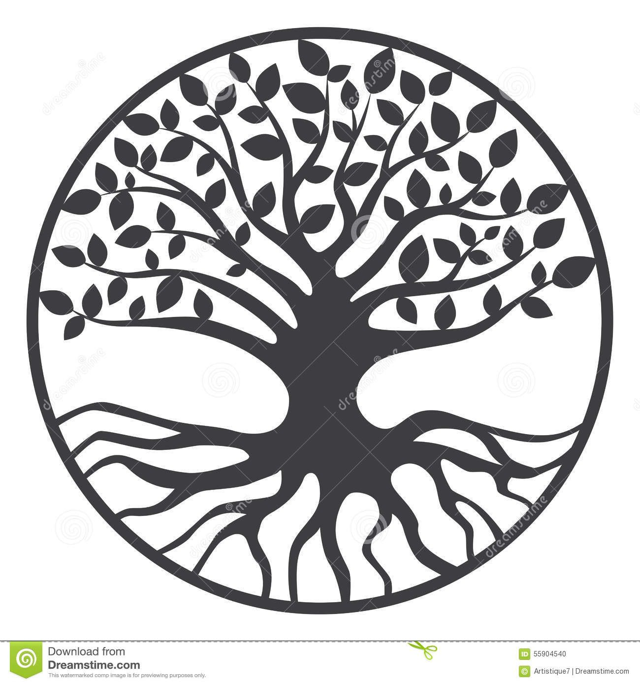 Tree Of Life Clip Art Black And White Tree Of Life Royalty F...