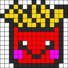 Qui A Envie De Frite Pixel Art Frite Pixel Art Et Dessin