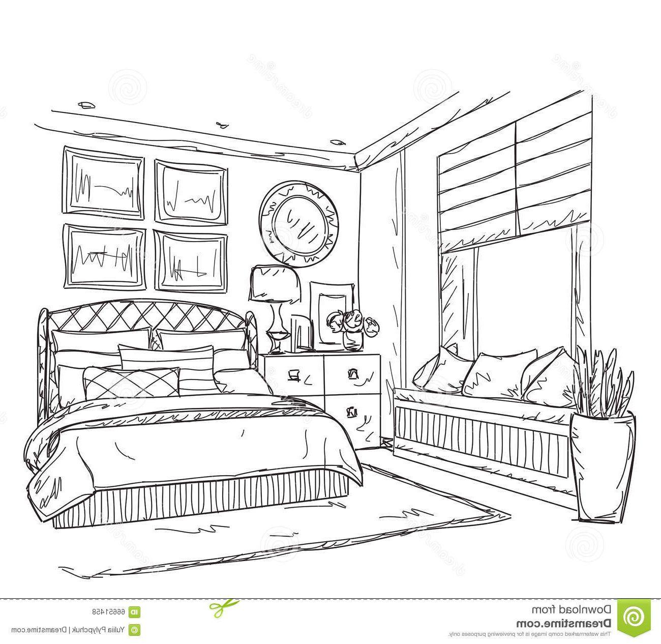 13 Meilleur De Dessin Chambre Fille Images Dessin De Decoration Dessin Coloriage Maison