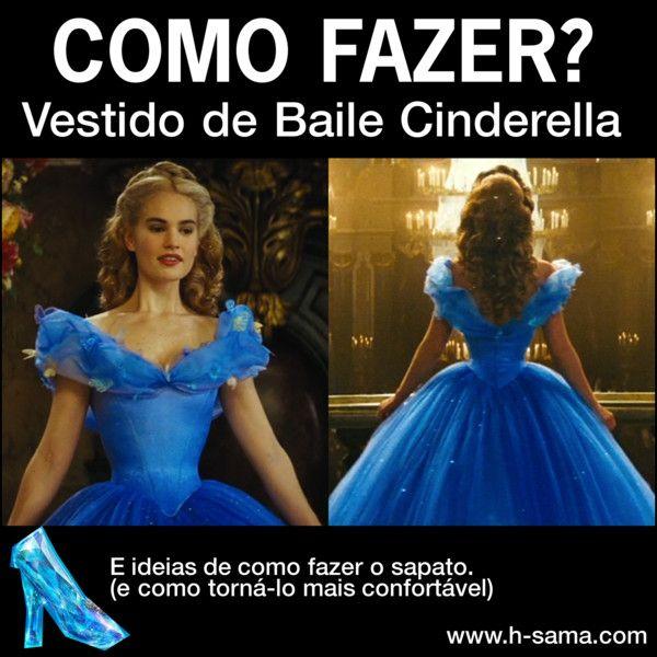 COMO FAZER vestido Cinderella filme 2015 (Ball Dress ...