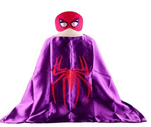 Spidergirl Superhero Cape   Mask Children Halloween Costume ** To view further for this item, visit the image link.