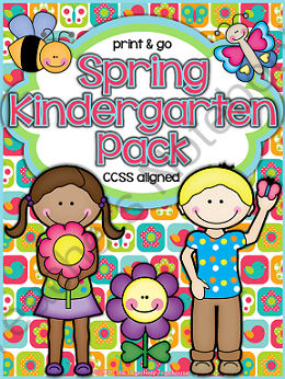 This Pack Contains Spring Themed Alphabet Practice Rhyming Syllables Patterns Numbers Spring Kindergarten Kindergarten Common Core Standards Spring Writing