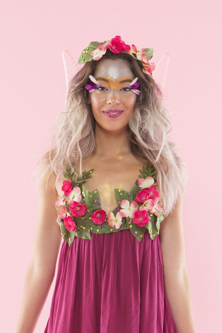 Be the prettiest fairy ever this halloween costume make up home you can turn into a fairy with this diy halloween costume makeup tutorial baditri Image collections