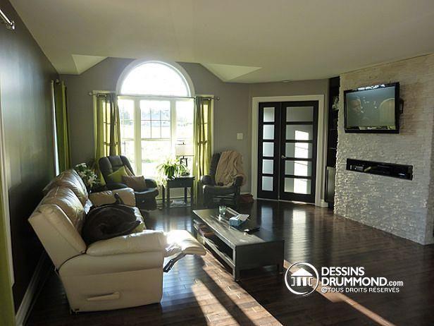 W3260 plain pied de style craftsman 2 chambres salle en manger solarium sous sol for Interieur contemporain