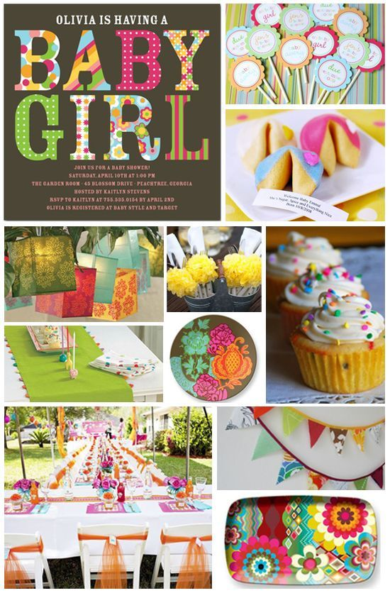 Baby Shower Themes And Colors bright color baby shower ideas | bright colors, baby shower