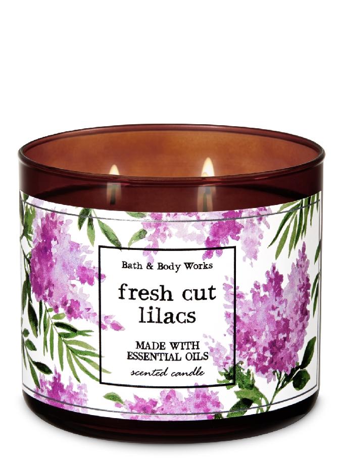 شمعة معطرة برائحة الزنبق الطازج بثلاث فتلات Candle Scent Oil Candles Lilac Candles