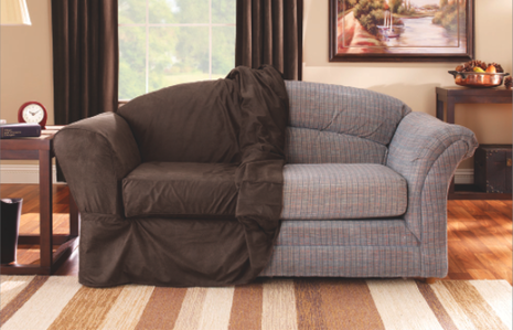 Faux Leather Couch Slipcovers