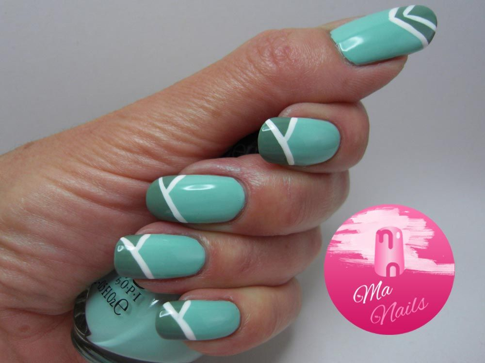 Jade Tipped Mint Nails - Ma Nails