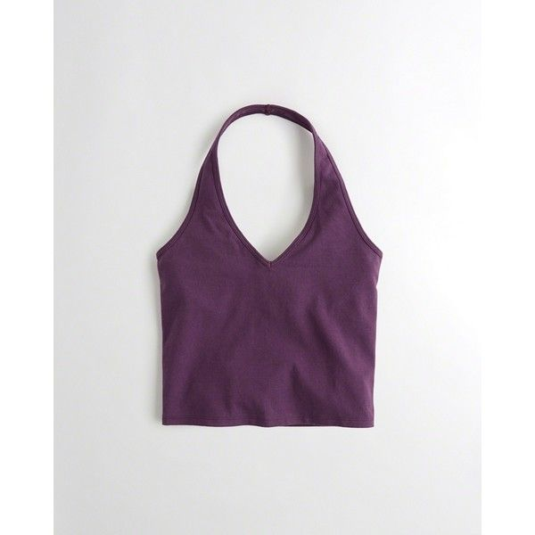 bd9142224481c Hollister Must-Have Halter Crop Top ( 15) ❤ liked on Polyvore featuring tops