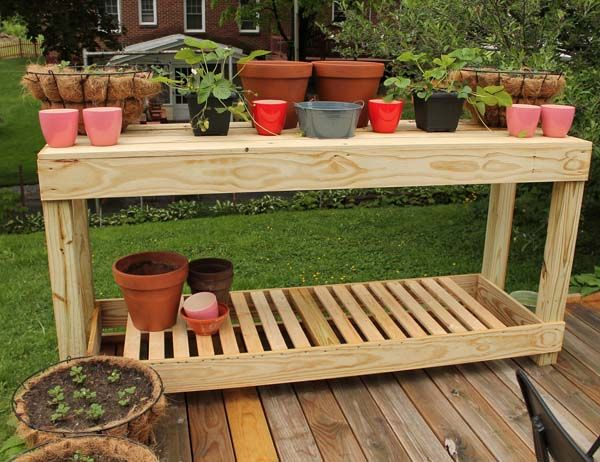 diy patio furniture possible serving cocktail bar or potting area rh pinterest com