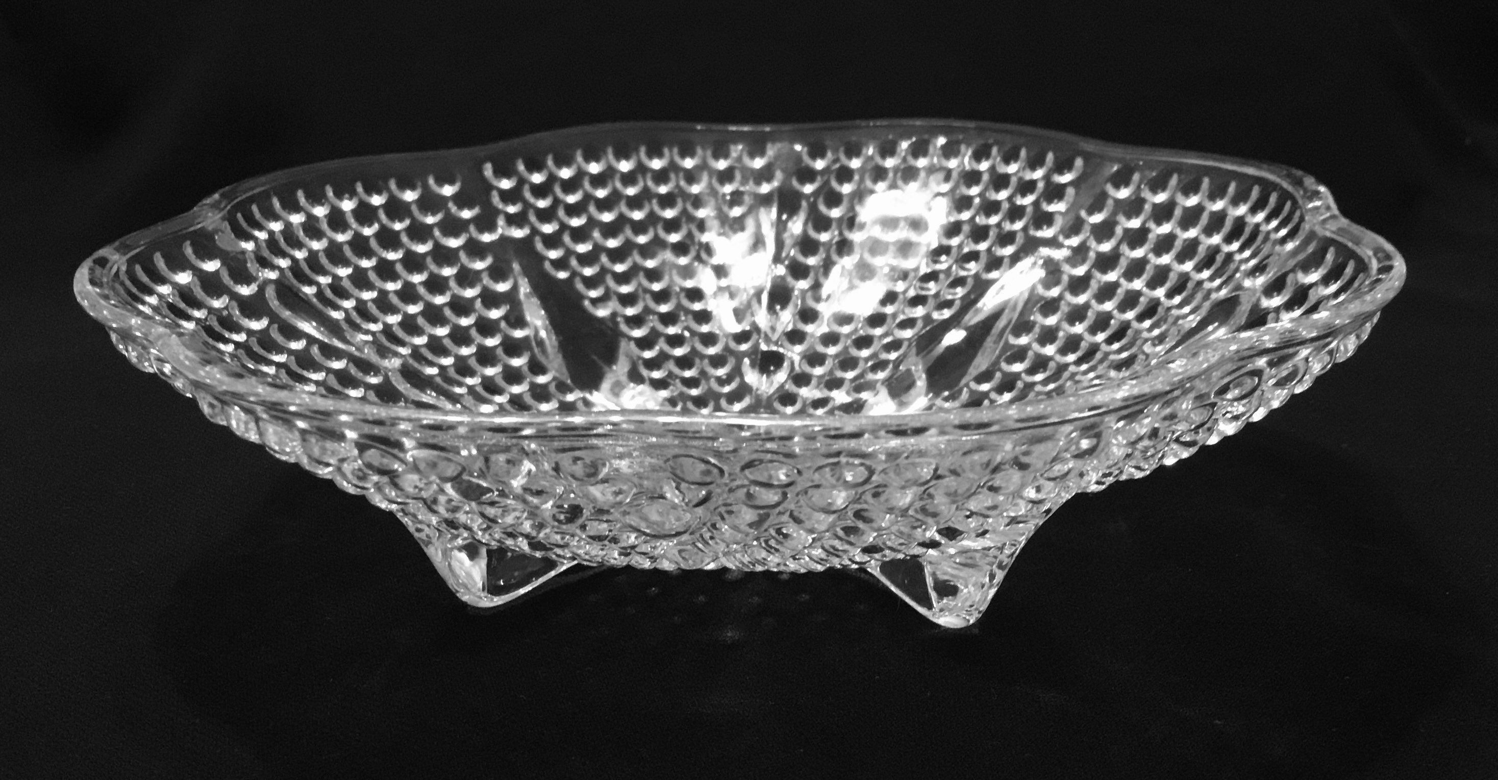Hazel Atlas Small Swirl Milk Glass Translucent Edges Bowl