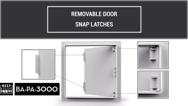 Ba Pa 3000 Flush Plastic Access Door Doors Flush Styrene Plastic