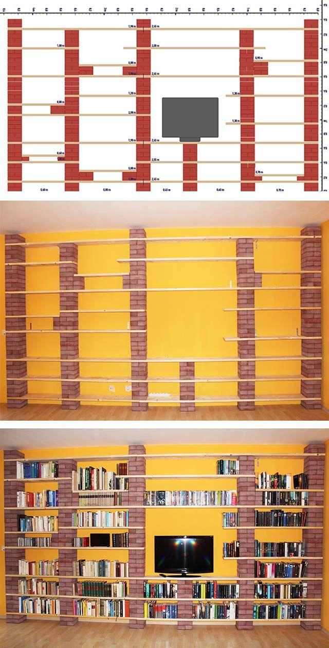 Regal Aus Backsteinen Und Holz Selber Bauen Ideen Rund Ums Haus
