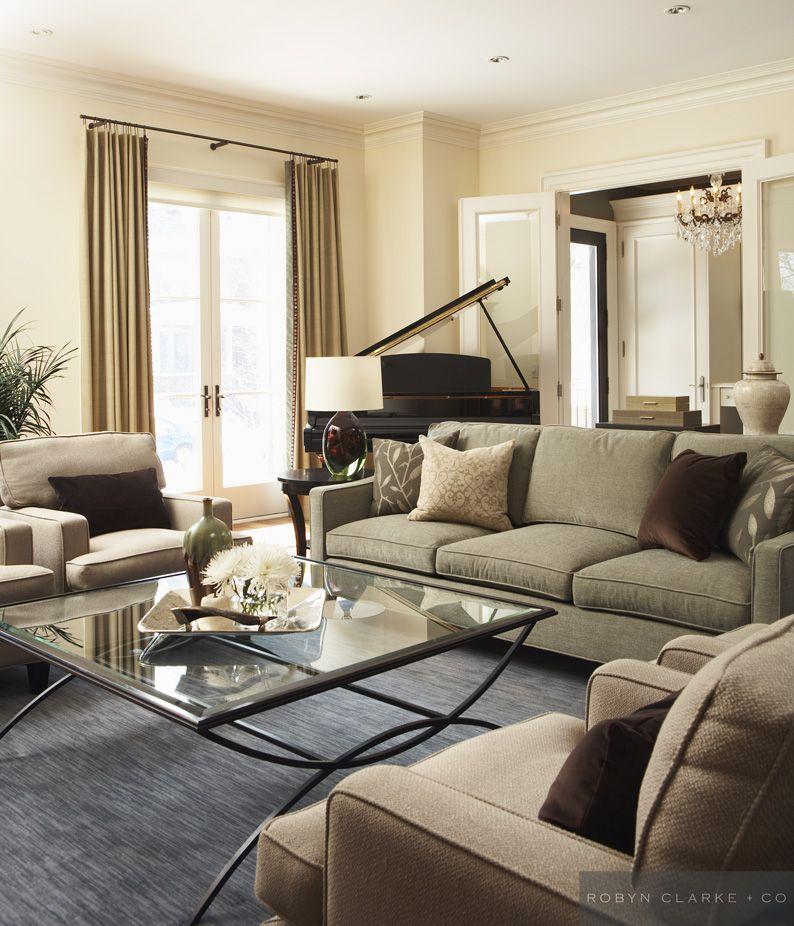 Classic contemporary living room Classic contemporary living