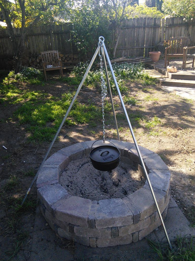Camping Tripod For Cooking Over Fire Outdoors Diy
