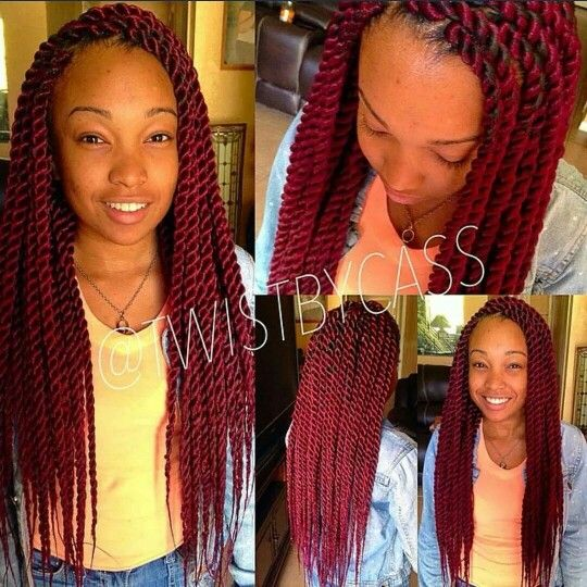 Red Twist Twist Braid Hairstyles Peinados Hair Styles