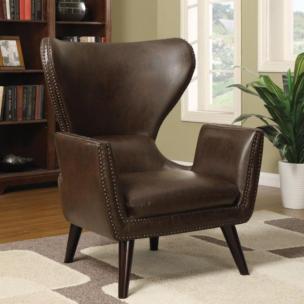 Accent Unique Transitional Chair High Back Leather