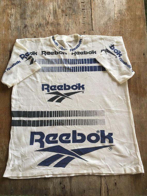 Sale Vintage Reebok Rare design t-shirt by NECKTIE4U on Etsy