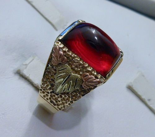 10k Solid Yellow Gold Ring Ebay Mens Ruby Ring Antique Mens Rings Cool Rings For Men